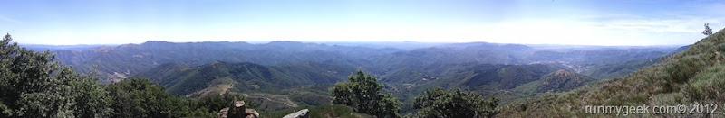 Panoramique en haut de la Toureille
