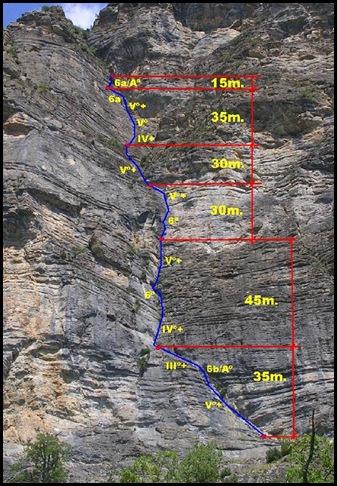 Peña Solano - Diedro Sajuma 190m 6b  (6a A0 Oblig) 2