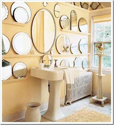 vários espelhos banheiro