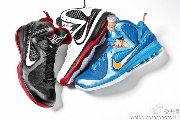 First Look Nike LeBron 9 WhiteBlackRed 469764100