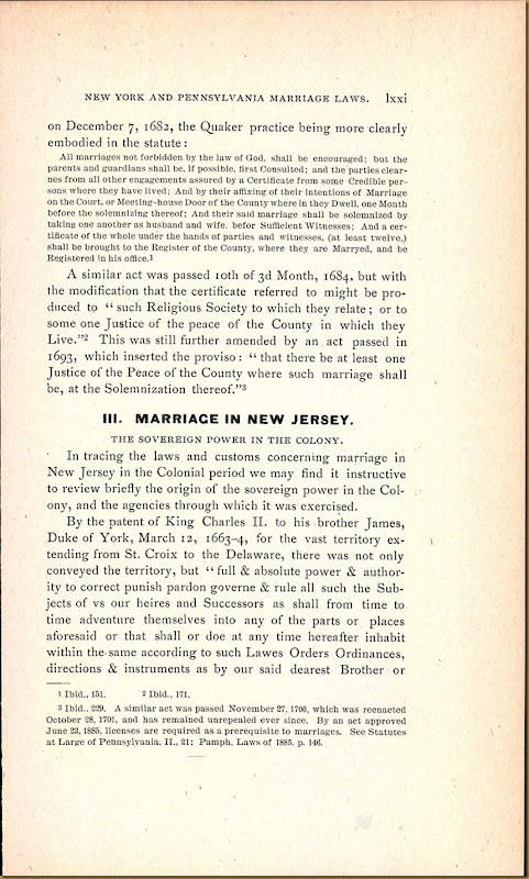 New Jersey, Marriage Records, 1683-1802 42