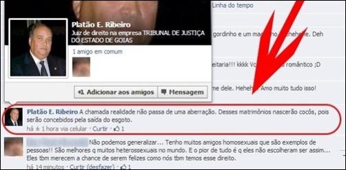juiz Platão E. Ribeiro reprodução facebook