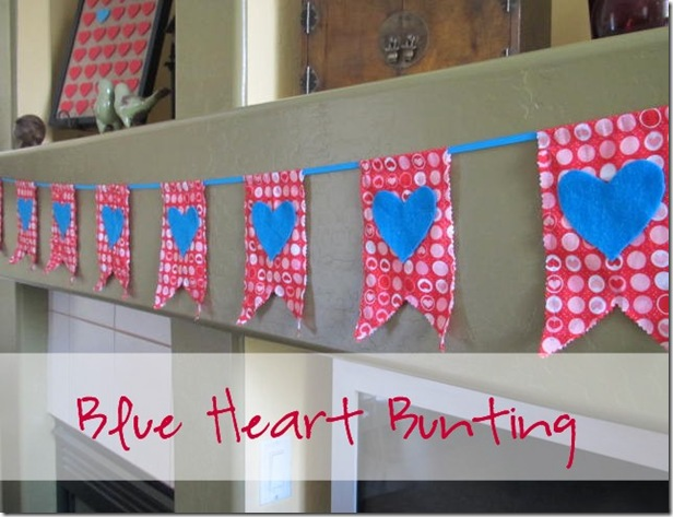 Blue Heart Bunting