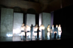 Fuzzy shot of the CALIGULA cast