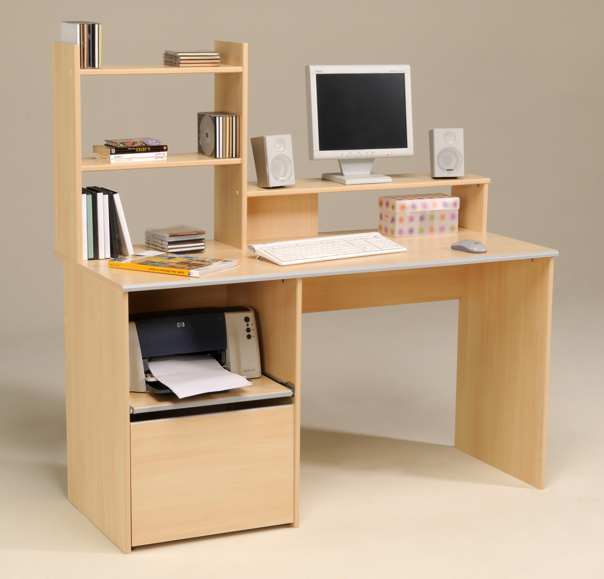 Bureau ordinateur for Meuble ordinateur ferme