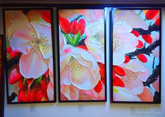 Angel Moreno sakura triptych