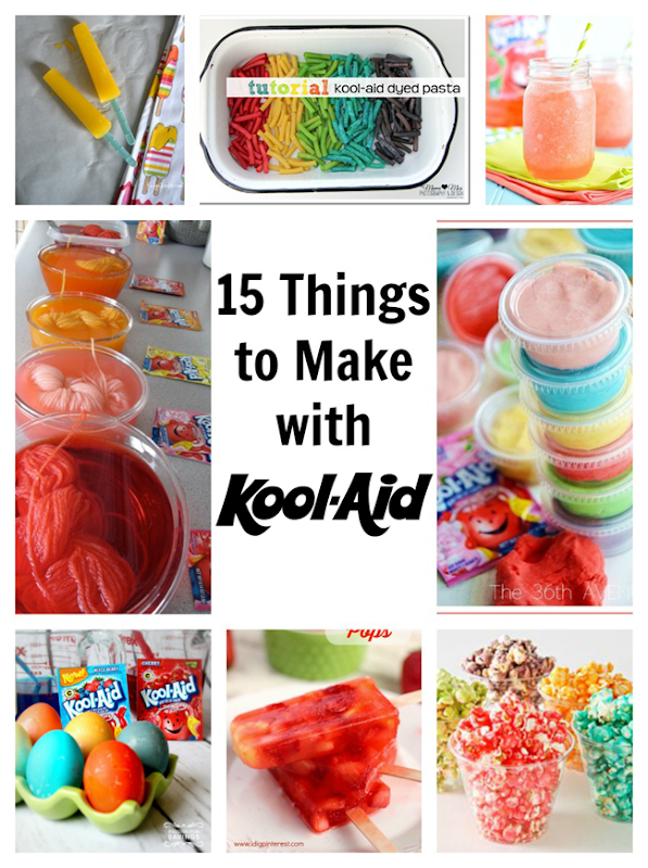 15 Things to Make with Kool-Aid - crafts and recipes!