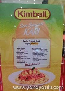 Kimball Asian Spaghetti Sauce Citarasa malaysia kari , Rendang , Tom Yam