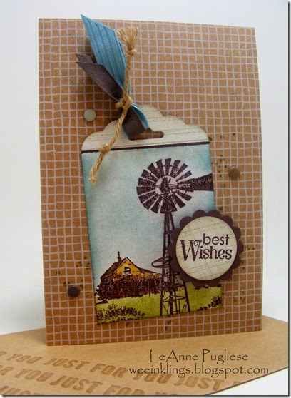 LeAnne Pugliese WeeInklings Country Birthday Card Stampin Up