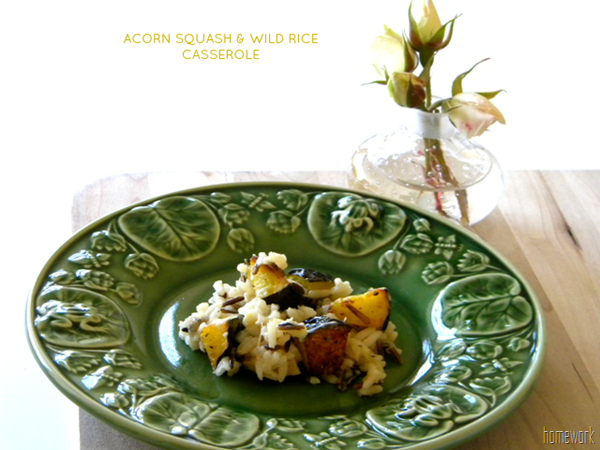 Acorn Squash and Wild Rice Casserole via homework; Photo used with permission from Home Work.
