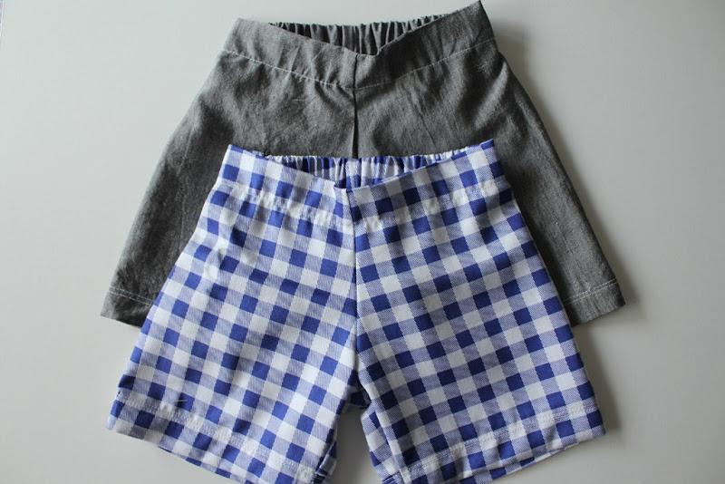 grey and check shorts