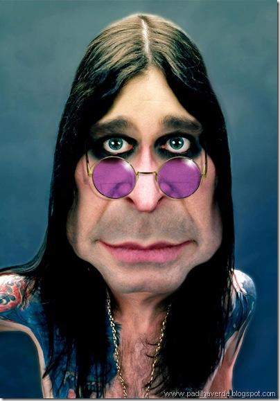 Caricatura Ozzy Osbourne