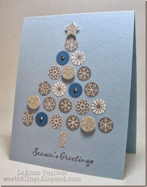 LeAnne Pugliese WeeInklings Merry Monday 79 Snowflake Christmas Tree