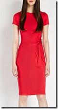 Oasis Short Sleeve Jersey Twist Dress