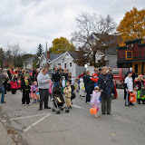 The Boyne City Halloween Parade begins to line up