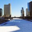Chicago River is Frozen