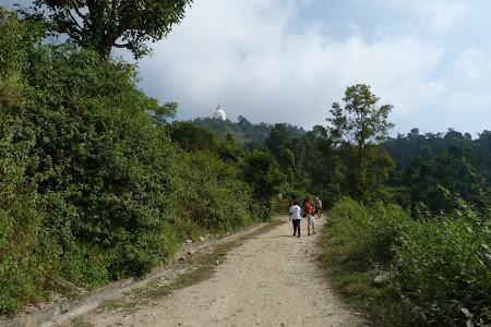 Imagini Pokhara: carare spre stupa