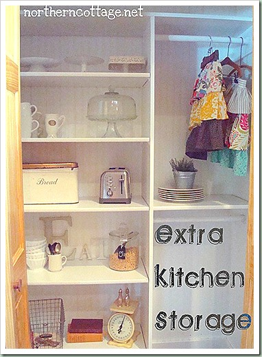 northern cottage extra kitchen storage