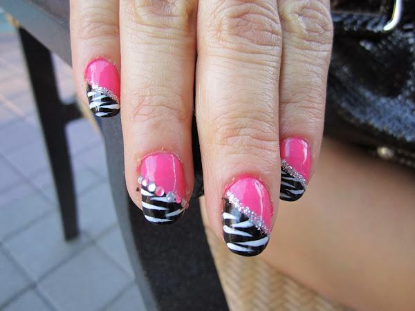 IMG_0176 Pink Zebra Nail Designs