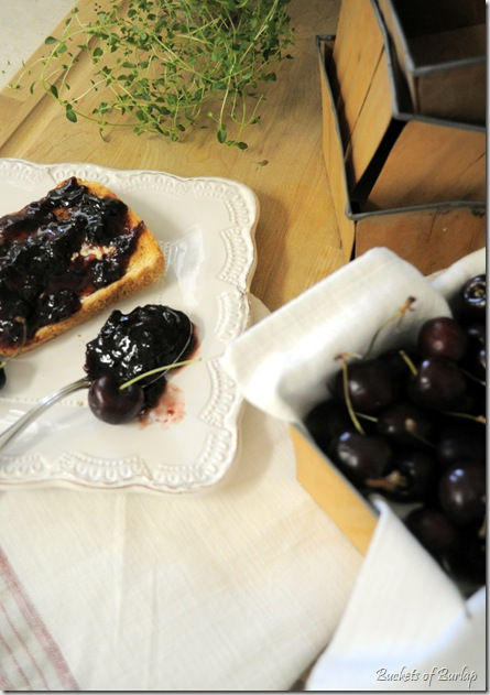 cherry preserves on toast