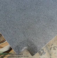 Charcoal Gray Granite Pool Coping, Corner