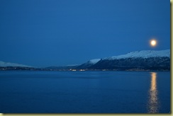 Moonrise near Tromso