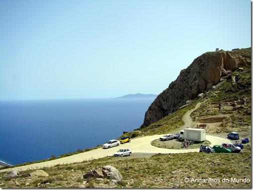 Estacionamento em Thira Antiga Santorini