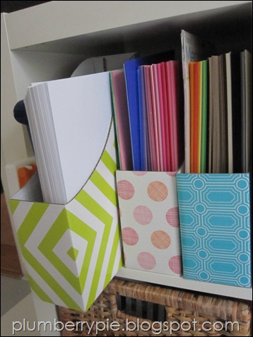 {plumberry pie} magazine file paper storage