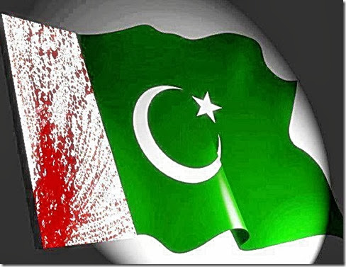 Blood Stained Pakistan Flag