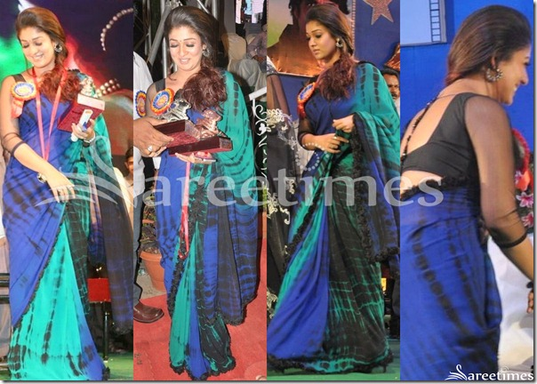 Nayanthara_Tricolor_Georgette_Sari