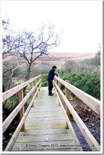 Harthope Valley  walk Ian on bridge 8