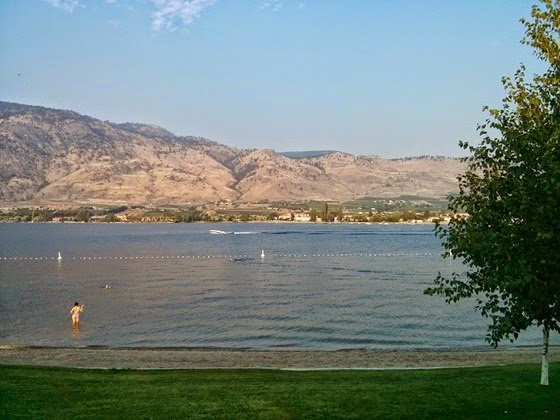 Cooling down in Osoyoos Lake