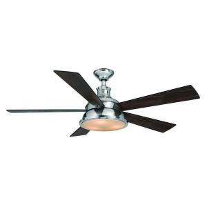 I love the combination of wood with nickel on this ceiling fan.  (homedepot.com)