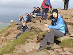 A welcome lunch stop at the summit of Pen-y-Fan in the Brecon Beacons