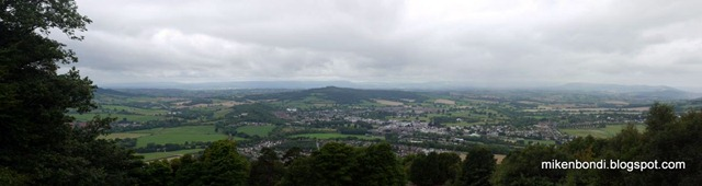 View over Monmouth from The Kymin