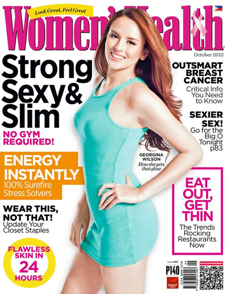Georgina Wilson covers Women's Health Ph Oct 2012