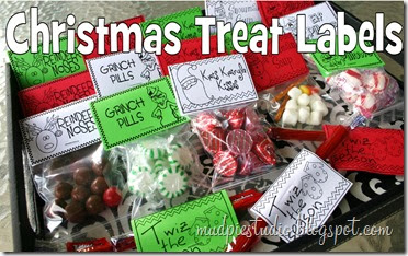 Christmas Treat Bag Labels from mudpiereviews.blogspot.com