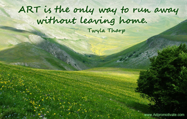 art leaving home quote