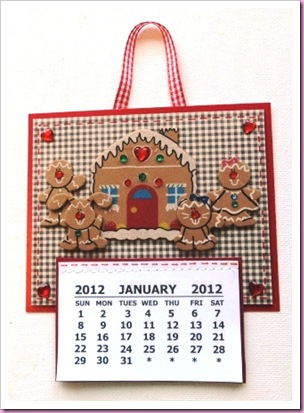 Gingerbread Man 2012 Calendar