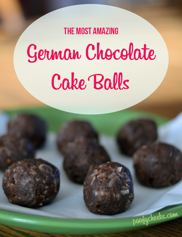 AH-mazing German Chocolate Cake Balls