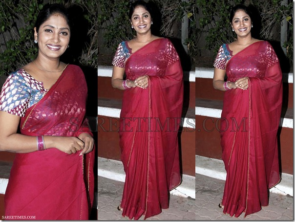 Jhansi_Maroon_Plain_Saree