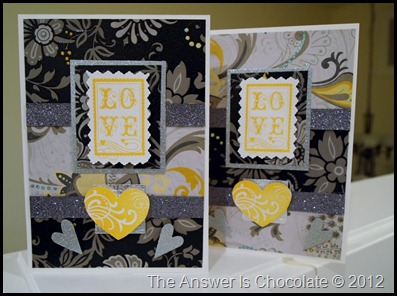 Silver, Black, Yellow Valentines