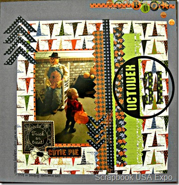 trick or treat cutie pie layout