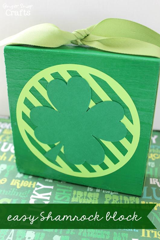 Easy Shamrock Block from GingerSnapCrafts.com #shamrock #stpatricksday_thumb[2]