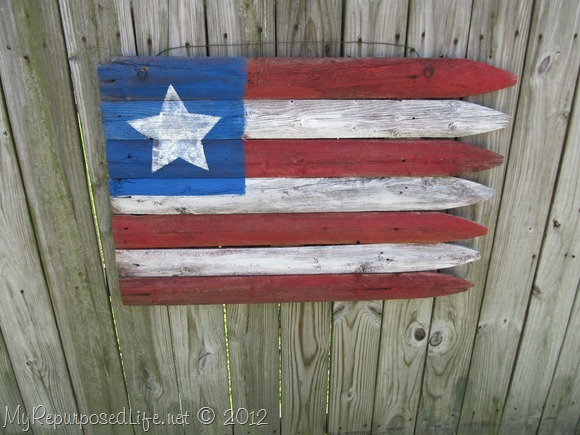 Americana Flag (Repurposed Fence) (23)
