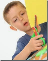 child with scissors