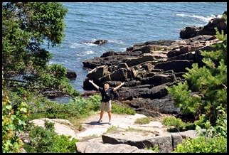 02c - hiking Ocean Path - Syl enjoying the views