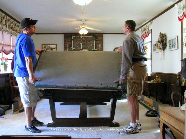pool table removal