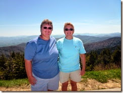 Gin and Syl at Clingmans Dome parking lot