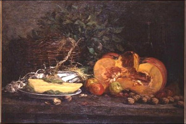 Boudin, Nature morte à la citrouille